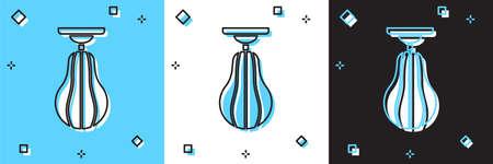 Set Punching bag icon isolated on blue and white, black background. Vector Ilustração Vetorial