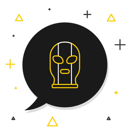 Line Mexican wrestler icon isolated on white background. Colorful outline concept. Vector Illustration