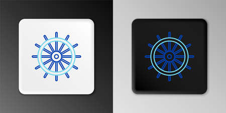 Line Ship steering wheel icon isolated on grey background. Colorful outline concept. Vector