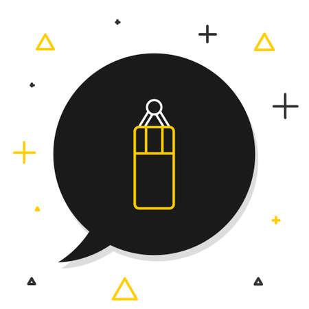 Line Punching bag icon isolated on white background. Colorful outline concept. Vector Ilustração Vetorial