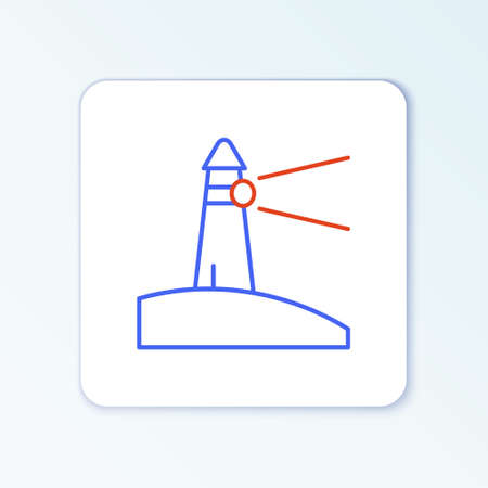 Line Lighthouse icon isolated on white background. Colorful outline concept. Vector