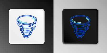 Line Tornado icon isolated on grey background. Cyclone, whirlwind, storm funnel, hurricane wind or twister weather icon. Colorful outline concept. Vector