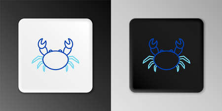 Line Crab icon isolated on grey background. Colorful outline concept. Vector