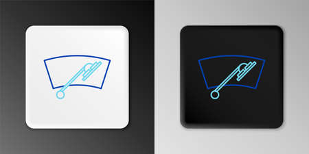 Line Windscreen wiper icon isolated on grey background. Colorful outline concept. Vector