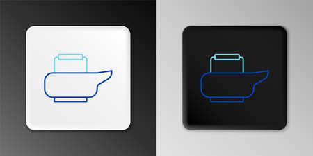 Line Bedpan icon isolated on grey background. Toilet for bedridden patients. Colorful outline concept. Vector