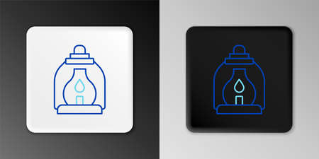 Line Camping lantern icon isolated on grey background. Colorful outline concept. Vector