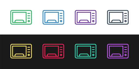 Grunge Microwave oven icon isolated on white background. Home appliances icon. Monochrome vintage drawing. Vector Vectores