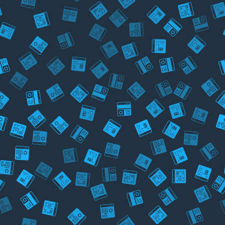 Set Software, Debugging and Browser setting on seamless pattern. Vector Illustration