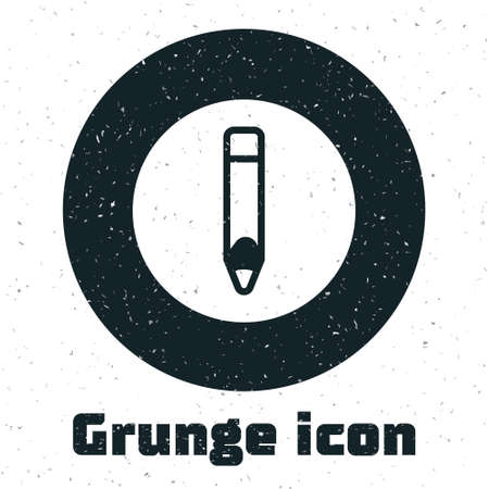 Grunge Pencil icon isolated on white background. Drawing and educational tools. School office symbol. Monochrome vintage drawing. Vector