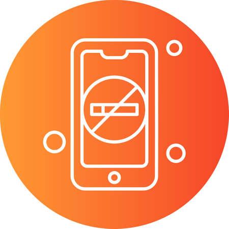 vector Mobile Icon Illusztráció