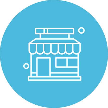 vector shop Icon Illusztráció