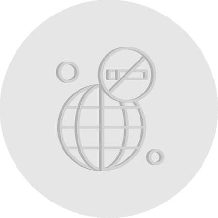 vector Earth Icon Illusztráció