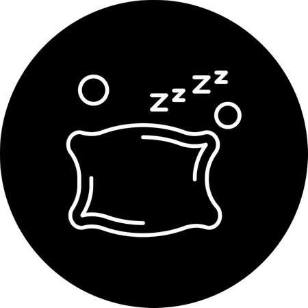 vector pillow Icon Illusztráció