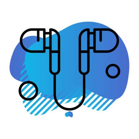 vector Handsfree Icon Illusztráció