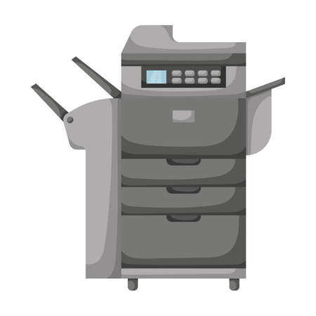 Printer vector icon.Cartoon vector icon isolated on white background printer.