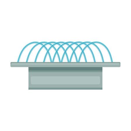 Fountain vector icon.Cartoon vector icon isolated on white background fountain.