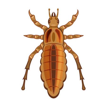 Parasites vector icon.Cartoon vector icon isolated on white background parasites.