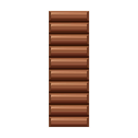 Chocolate bar vector icon.Cartoon vector icon isolated on white background chocolate bar.