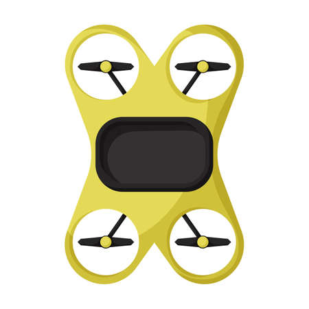 Drone cartoon vector icon.Cartoon vector illustration quadcopter. Isolated illustration of drone icon on white background.