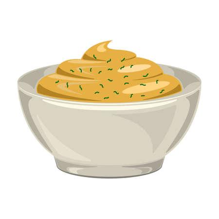 Sauce mustard vector icon.Cartoon vector icon isolated on white background sauce mustard. Vetores
