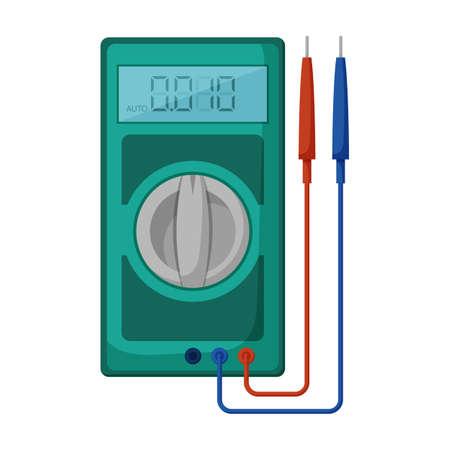 Multimeter vector icon.Cartoon vector icon isolated on white background multimeter. Векторная Иллюстрация