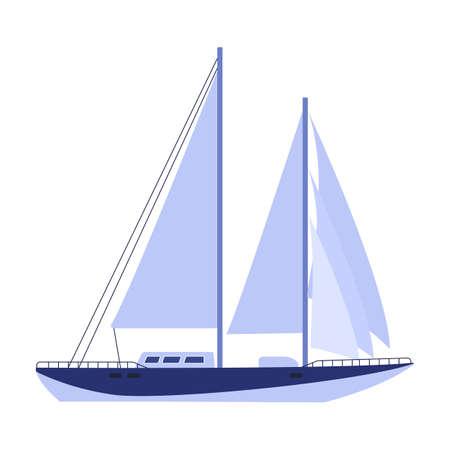 Sail yacht vector icon.Cartoon vector icon isolated on white background sail yacht. Vektorové ilustrace
