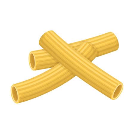 Pasta of italian cartoon vector icon.Cartoon vector illustration pasta and spaghetti,. Isolated illustration of italian food icon on white background. Vettoriali