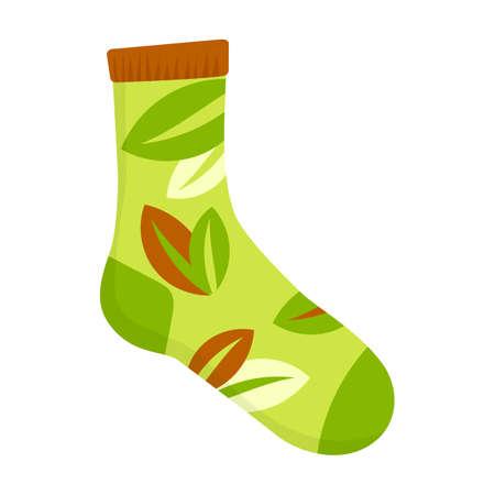 Sock vector icon.Cartoon vector icon isolated on white background sock. Vektorgrafik