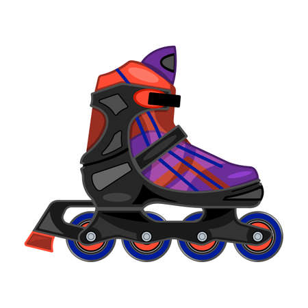 Roller skate vector icon. Cartoon vector icon isolated on white background roller skate.