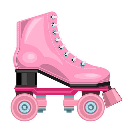Roller skate vector icon. Cartoon vector icon isolated on white background roller skate. Ilustracje wektorowe