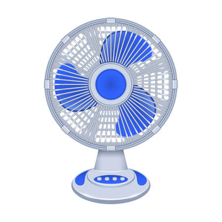 Fan vector icon.Realistic vector icon isolated on white background fan. Vetores