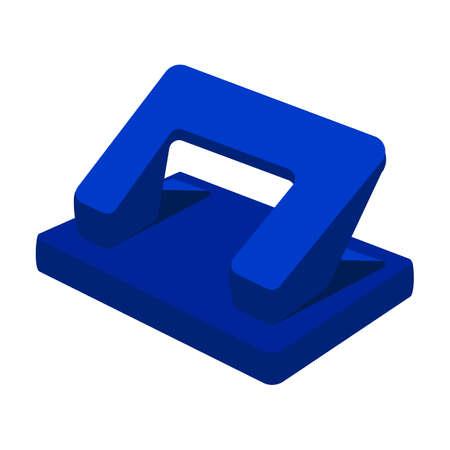 Stapler vector cartoon icon. Vector illustration puncher on white background. Isolated cartoon illustration icon stapler.