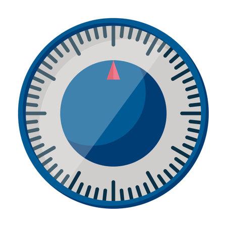 Kitchen timer vector cartoon icon. Vector illustration oven stopwatch on white background. Isolated cartoon illustration icon kitchen timer. Ilustración de vector