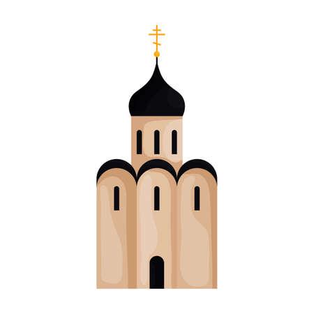 Church vector icon.Cartoon vector icon isolated on white background church.