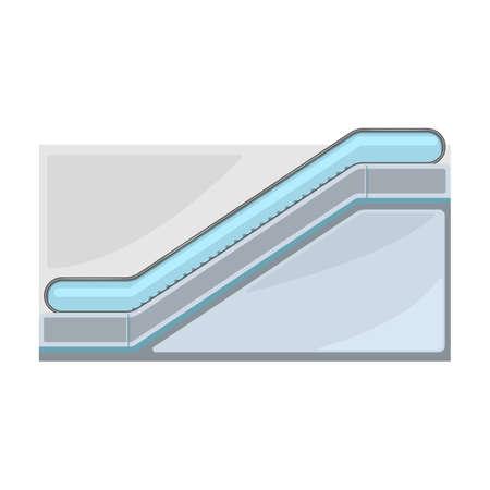 Escalator vector icon.Cartoon vector icon isolated on white background escalator. Vector Illustratie