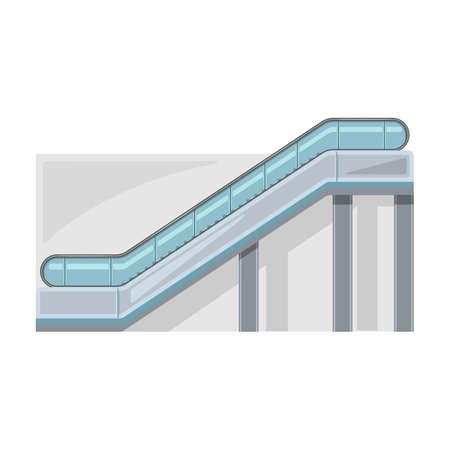 Escalator vector icon.Cartoon vector icon isolated on white background escalator.