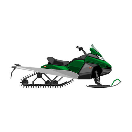 Snowmobile vector icon.Cartoon vector icon isolated on white background snowmobile.
