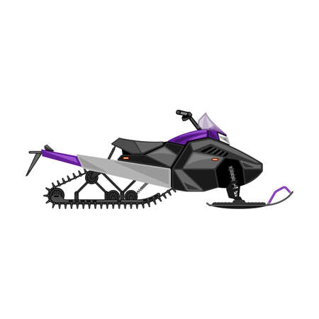Snowmobile vector icon.Cartoon vector icon isolated on white background snowmobile. Vecteurs