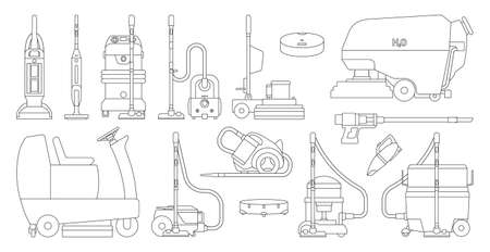 Vacuum cleaners realistic set icon. Vector illustration cleaning on white background. Vector realistic set icon vacuum cleaners .