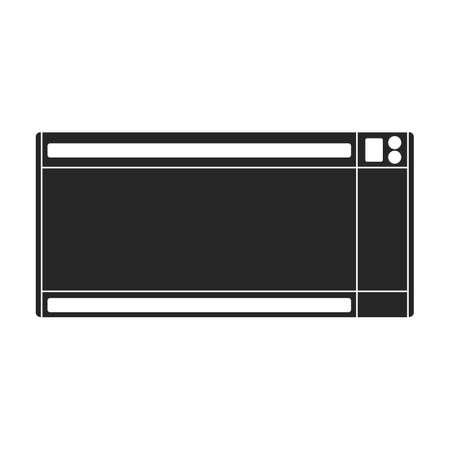 Heater electric vector black icon. Vector illustration heater electric on white background. Isolated black illustration icon of home boiler. Vektorgrafik