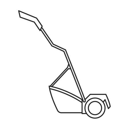 Lawn mower vector outline icon. Vector illustration lawnmower on white background. Isolated outline illustration icon of lawn mower .