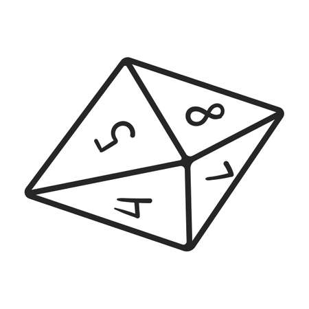 Dice vector outline icon. Vector illustration cube game on white background. Isolated outline illustration icon of dice .