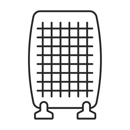 Heater vector outline icon. Vector illustration boiler on white background. Isolated outline illustration icon of heater . Vektorgrafik