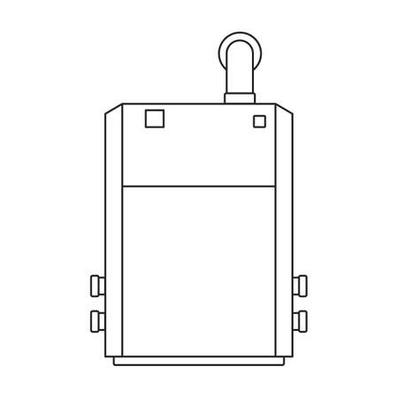 Heater vector outline icon. Vector illustration boiler on white background. Isolated outline illustration icon of heater .