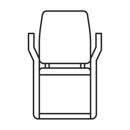Chair office vector outline icon. Vector illustration armchair on white background. Isolated outline illustration icon of chair office.