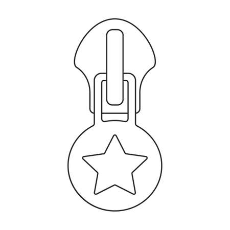 Lock vector outline icon. Vector illustration zipper on white background. Isolated outline illustration icon of lock . 矢量图像