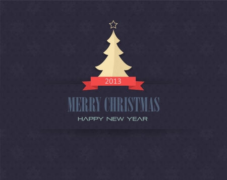 Merry Christmas and Happy New Year  Stock Vector - 16777605