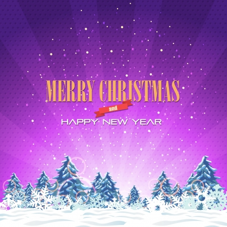 Merry Christmas and Happy New Year  Stock Vector - 16777608