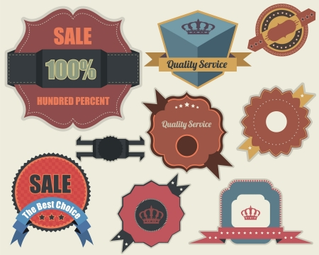 Retro Labels Design Vintage Sticker
