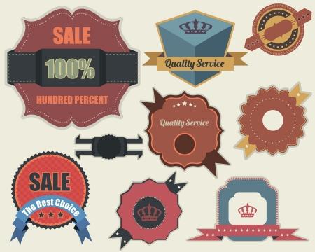 Retro Labels Design Vintage Sticker